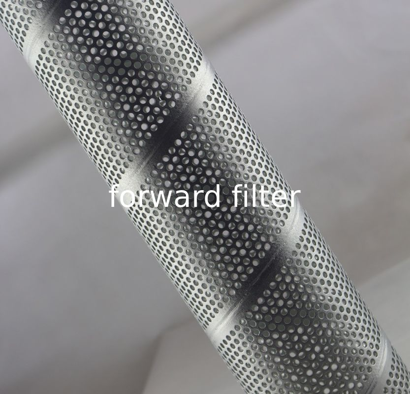 Galvanized Steel Spiral Perforated Tube Custom Length ASTM GB Rust Prevention
