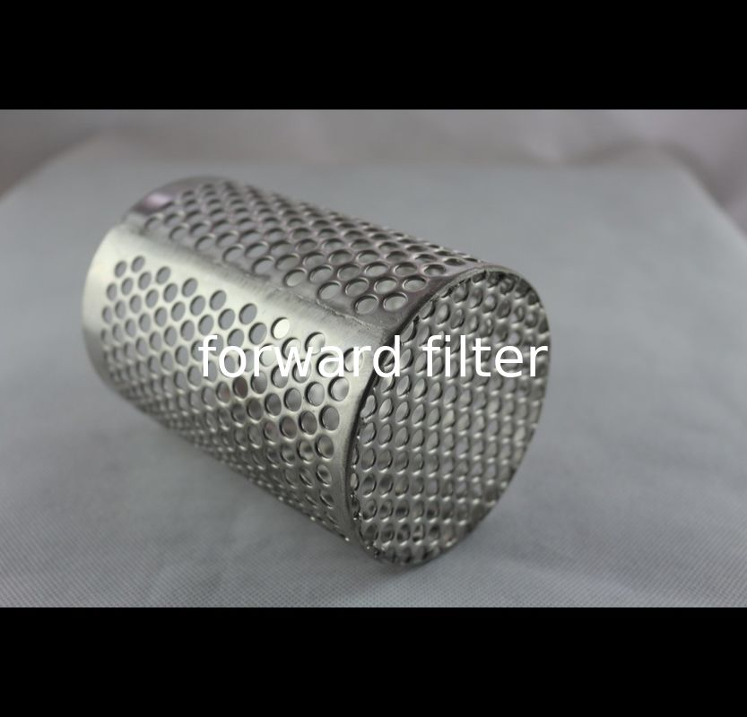 AISI304/304L Perforated Stainless Steel Tube , Mining Perforated Stainless Pipe