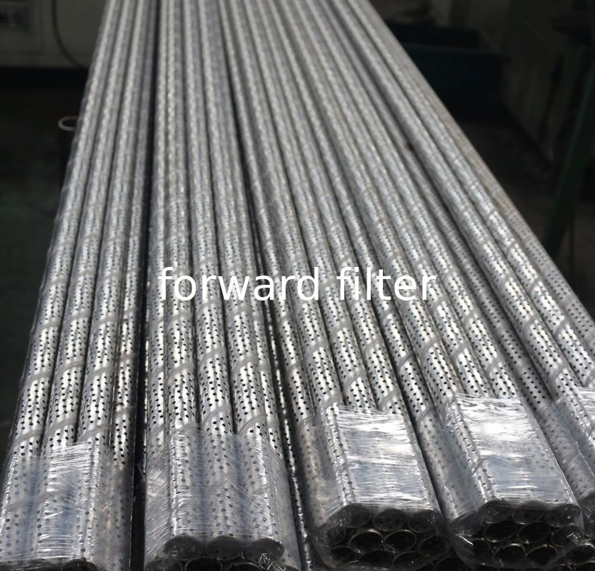 201 304 Spiral Perforated Steel Pipe Galvanized For Low Carbon Plain Steel Sheet
