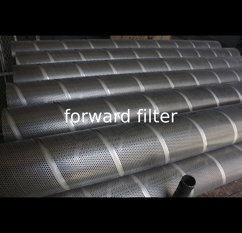 Spiral Welded Stainless Steel Filter Tube Corrosion Resistance For Agriculture