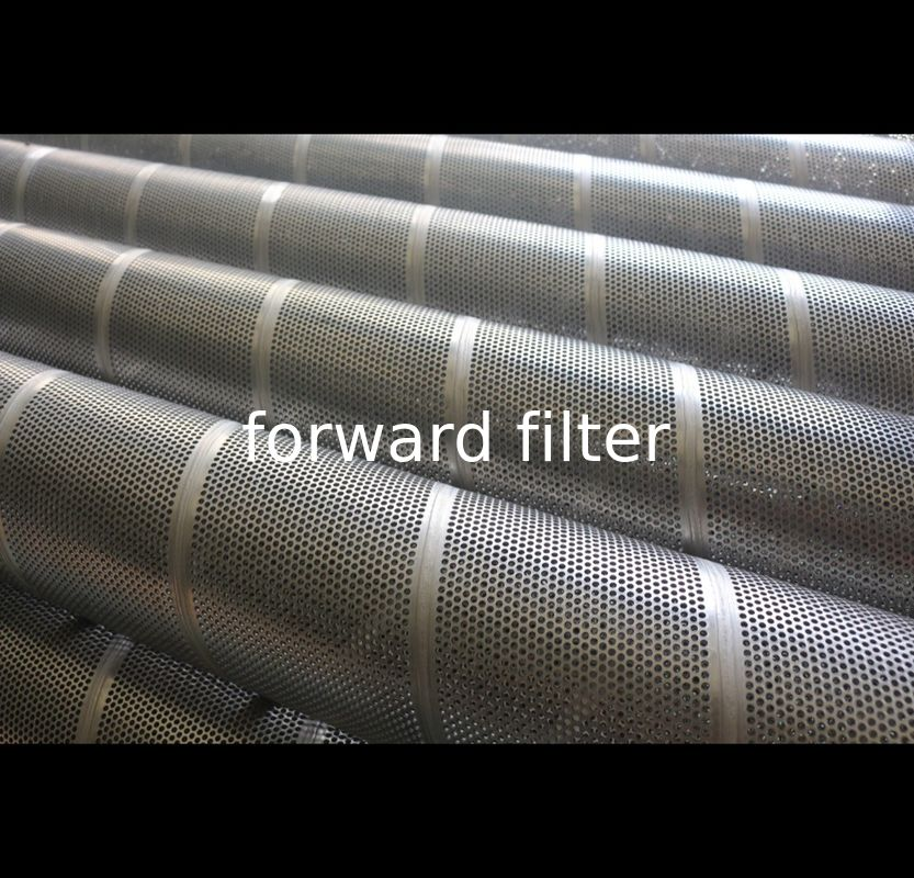 Powder Coating Perforated Stainless Pipe , Chemical Perforated Muffler Tubing