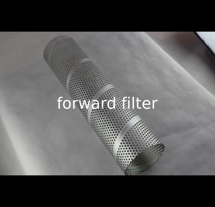 Automotive Perforated Stainless Steel Tube , Polished Surface Perforated Metal Pipe