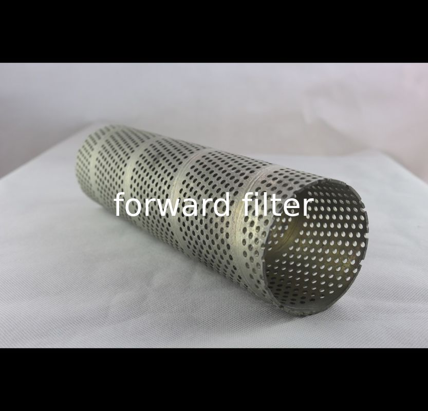Welded Anodized Spiral Perforated Tube For Food Service , Waste Management
