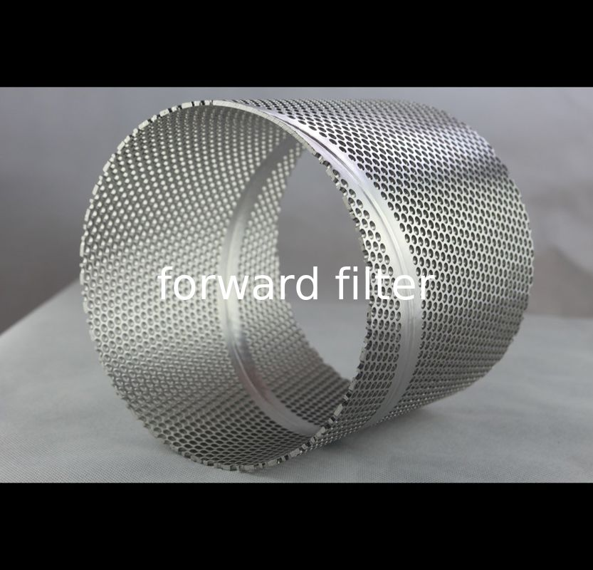 Automotive Perforated Metal Pipe ,  Polished Surface Perforated Filter Tube
