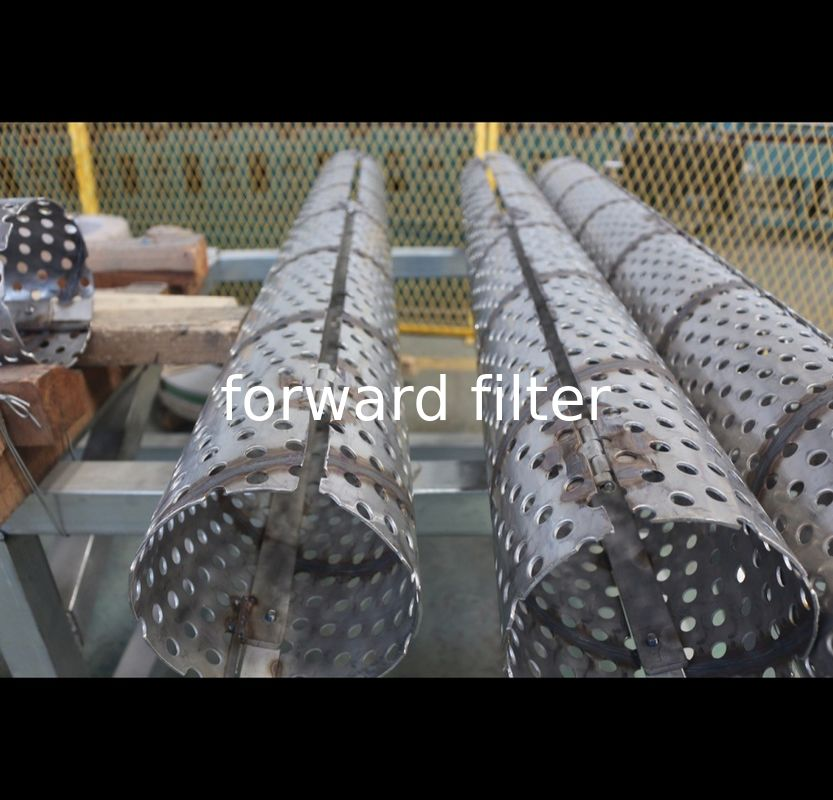 316 Steel Perforated Filter Tube With Length 10000 Mm With Surface Treatment
