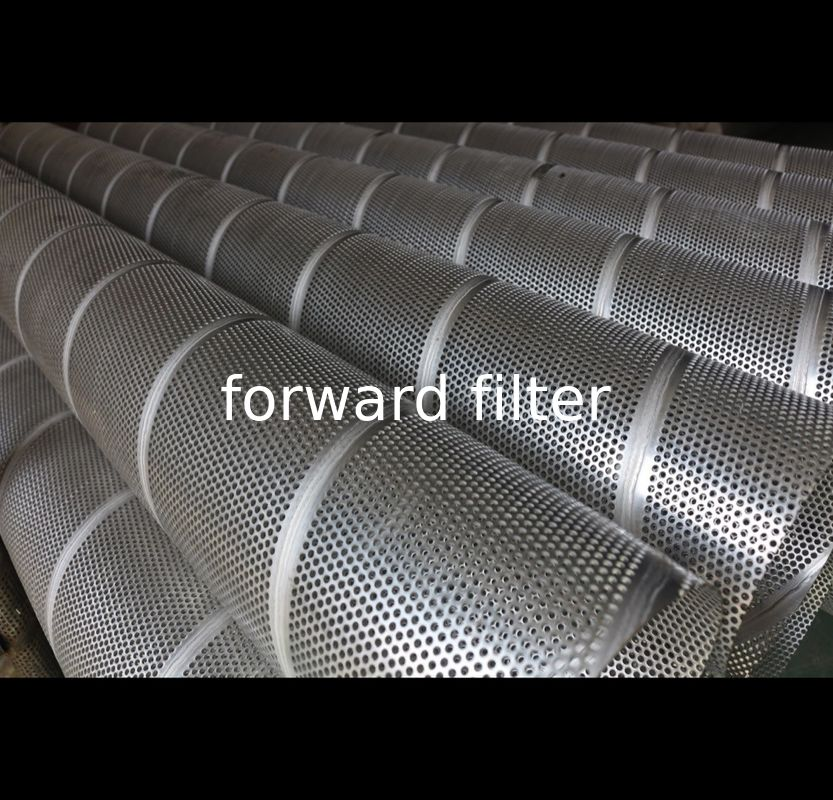 Round Perforated Stainless Steel Pipe , Galvanized Steel Perforated Muffler Pipe
