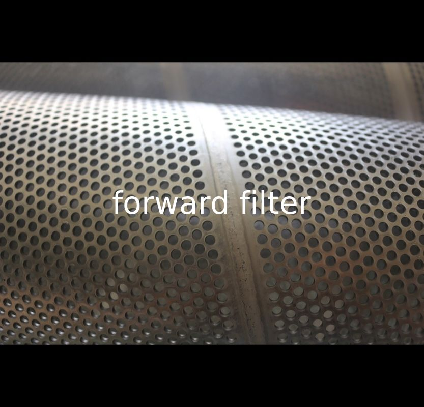 Spiral Seamless Stainless Steel Mesh Cylinder With Round Hole Shape Architecture