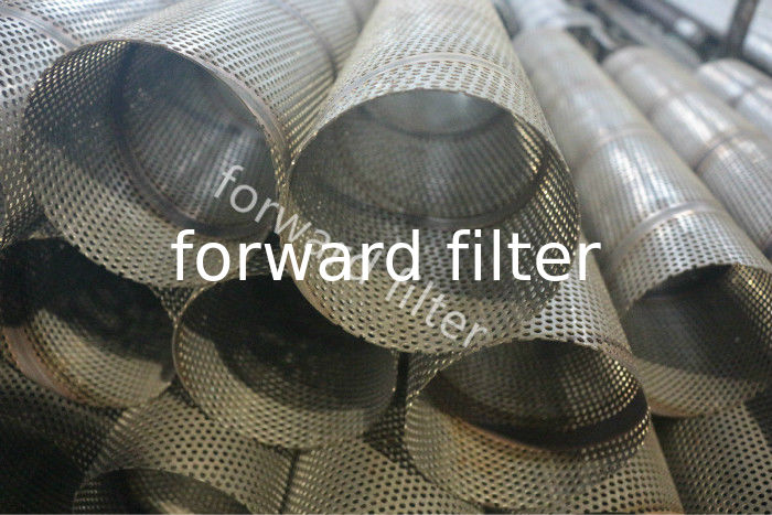 Stainless Perforated Steel Pipe For Oil Water Gas Industry In Straight Or Staggered Form